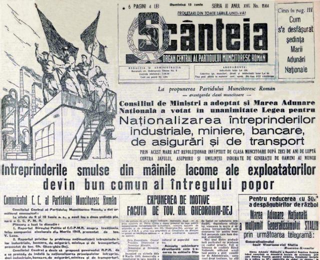 Lista imobilelor naționalizate din 20.04.1950