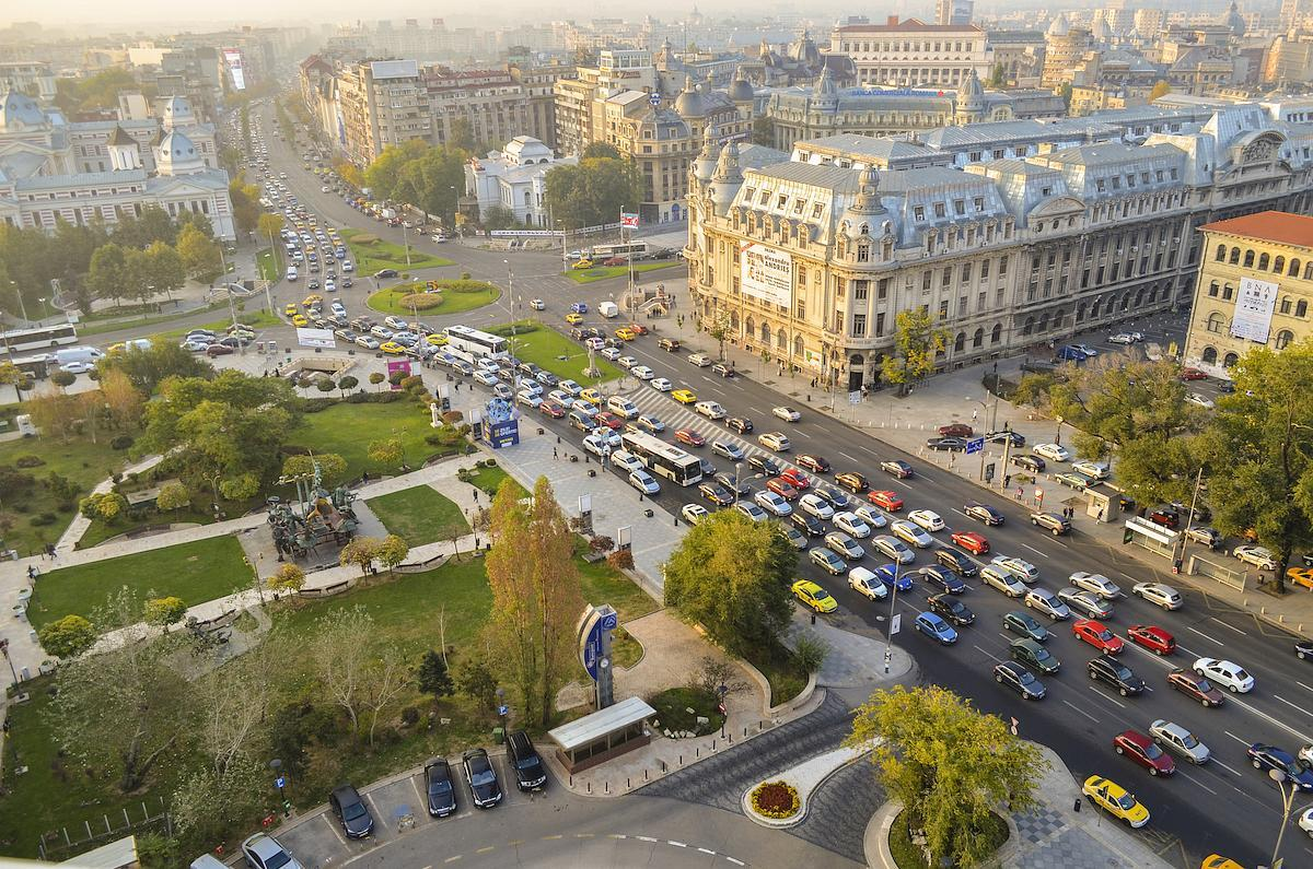 Bucharest is most congested city in the world by hours lost in traffic